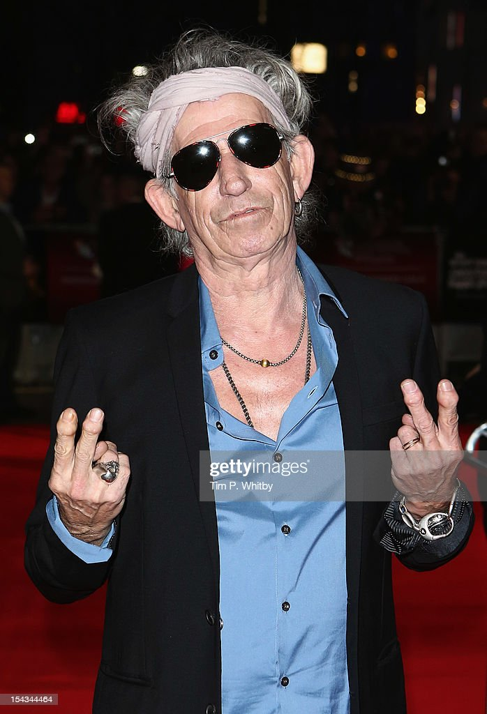 <a gi-track='captionPersonalityLinkClicked' href=/galleries/search?phrase=Keith+Richards+-+Musician&family=editorial&specificpeople=202882 ng-click='$event.stopPropagation()'>Keith Richards</a> of the Rolling Stones attends the Premiere of 'Crossfire Hurricane' during the 56th BFI London Film Festival at Odeon Leicester Square on October 18, 2012 in London, England.