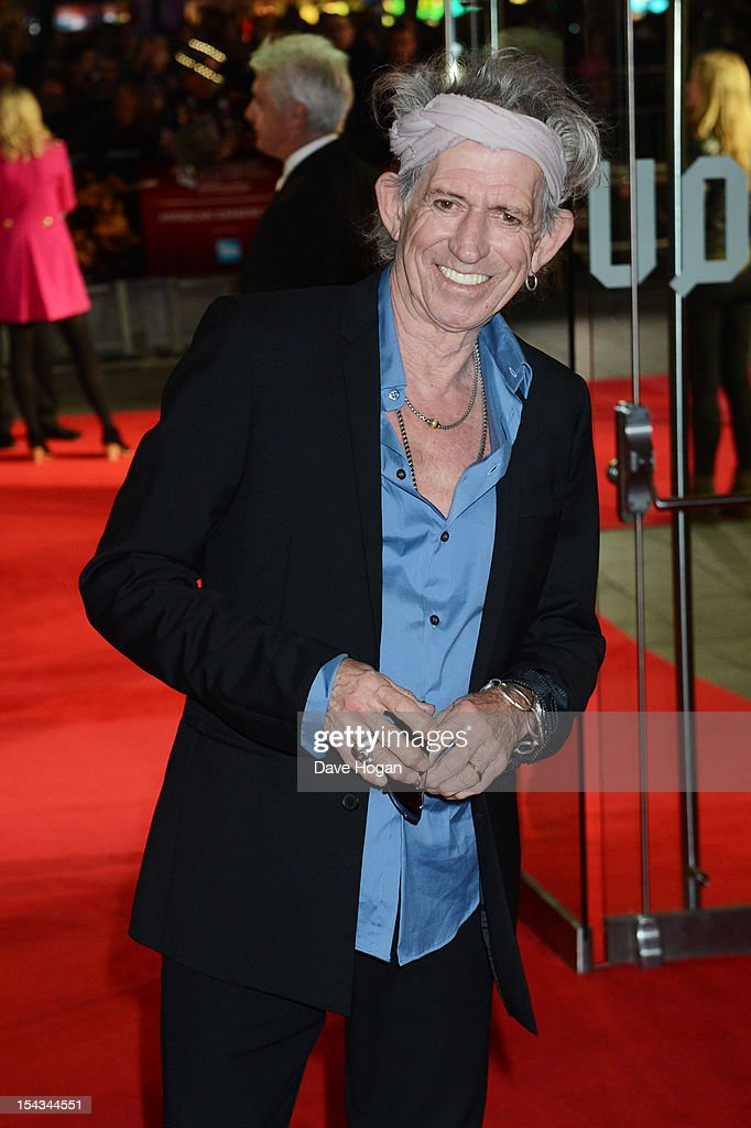 <a gi-track='captionPersonalityLinkClicked' href=/galleries/search?phrase=Keith+Richards+-+Musician&family=editorial&specificpeople=202882 ng-click='$event.stopPropagation()'>Keith Richards</a> of The Rolling Stones attends the premiere of 'Crossfire Hurricane' during the 56th BFI London Film Festival at The Odeon Leicester Square on October 18, 2012 in London, England.