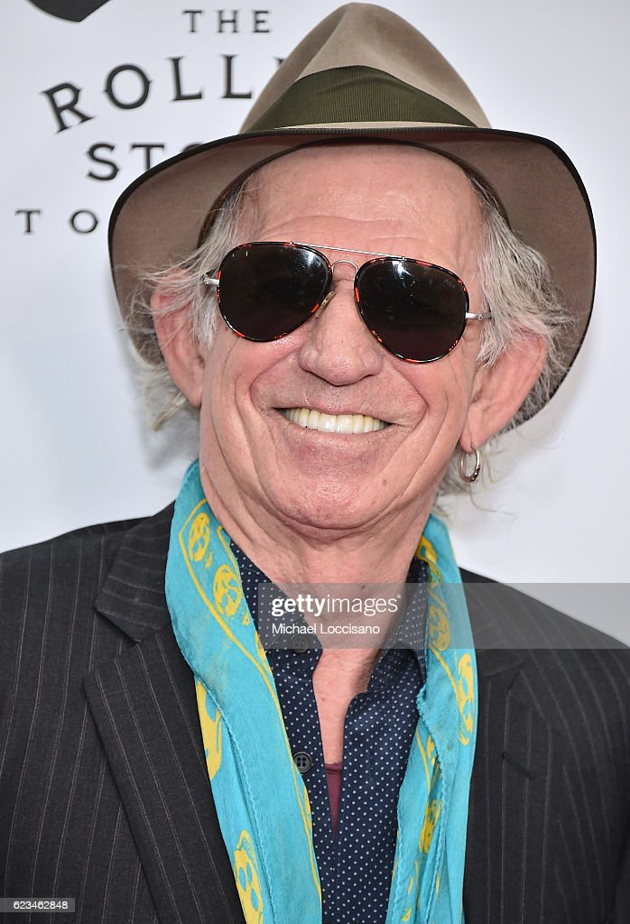 Keith Richards of The Rolling Stones attends The Rolling Stones celebrate the North American debut of Exhibitionism at Industria in the West Village on November 15, 2016 in New York City.