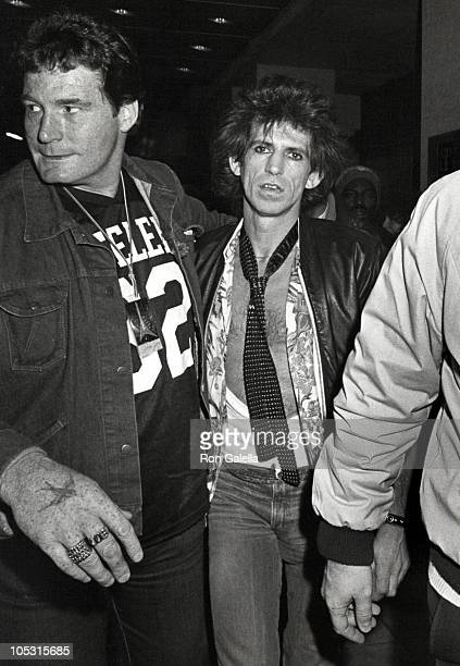 Keith Richards of the Rolling Stones during Leaving for the Madison Square Garden Concert at Berkshire Hotel in New York City New York United States