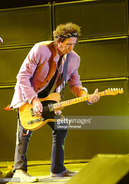 Keith Richards of The Rolling Stones during Molson Canadian Rocks for Toronto Show at Downsview Park in Toronto Ontario Canada