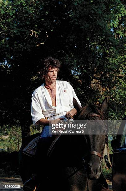 Keith Richards of the Rolling Stones is photographed at Longview Farm in September 1981 in Worcester Massachusetts CREDIT MUST READ Ken Regan/Camera...