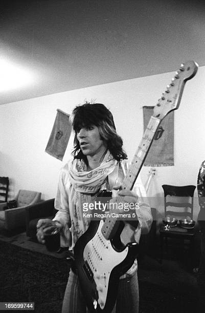 Keith Richards of the Rolling Stones is photographed backstage in 1972 in Long Beach California CREDIT MUST READ Ken Regan/Camera 5 via Contour by...