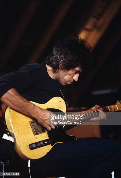 Keith Richards of the Rolling Stones is photographed while recording at Longview Farm in September 1981 in Worcester Massachusetts CREDIT MUST READ...