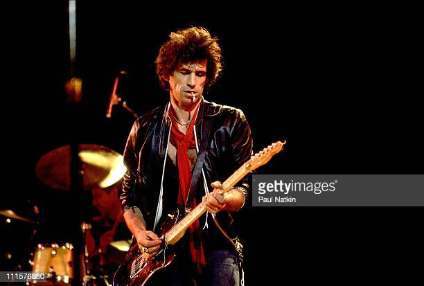 Keith Richards of the Rolling Stones on 1981 Tour in Rockford Il