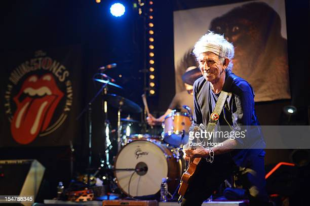 Keith Richards of The Rolling Stones perform at a secret club gig for 600 lucky fans as the band warm up for their 4 dates in London and New York...