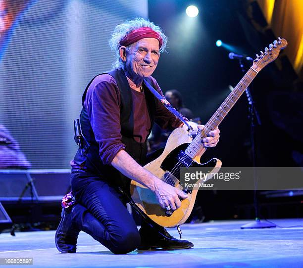 Keith Richards of The Rolling Stones perform at Prudential Center on December 13 2012 in Newark New Jersey The Rolling Stones concert this Saturday...