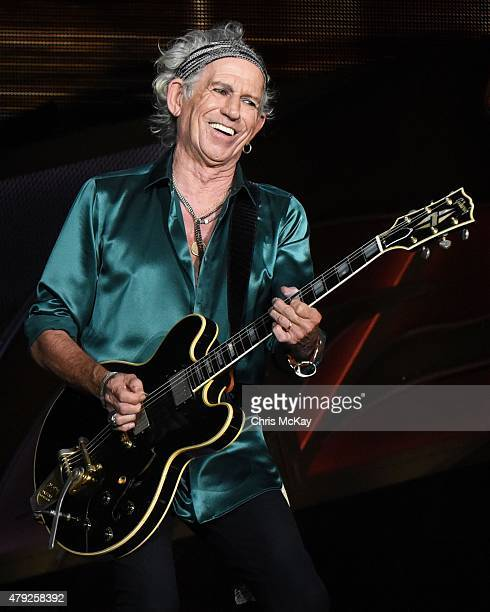 Keith Richards of The Rolling Stones performs at Carter Finley Stadium on July 1 2015 in Raleigh North Carolina