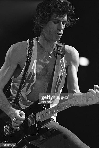 Keith Richards of the Rolling Stones performs at the Rosemont Horizon Chicago Illinois November 24 1981