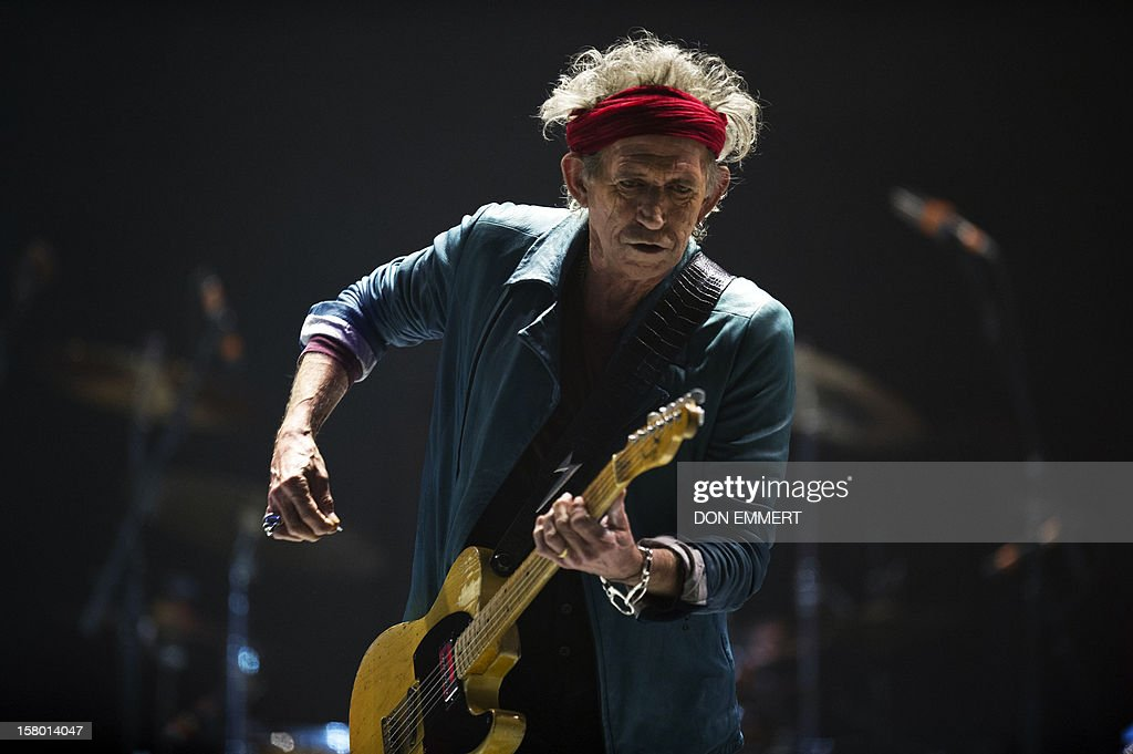 Keith Richards of the Rolling Stones performs during 'The Stones-50 and Counting' tour December 8, 2012 at the Barclays Center in Brooklyn, NY. The band performed it's first American concert celebrating it's 50th anniversary.