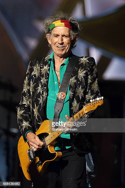Keith Richards of The Rolling Stones performs live at Rod Laver Arena on November 5 2014 in Melbourne Australia