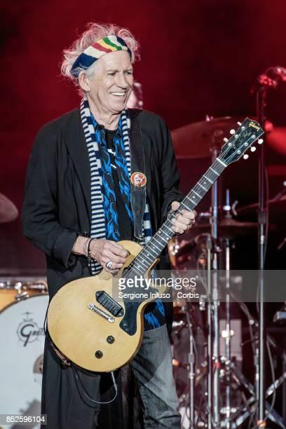 Keith Richards of The Rolling Stones performs on stage during Lucca Summer Festival 2017 on September 23 2017 in Lucca Italy
