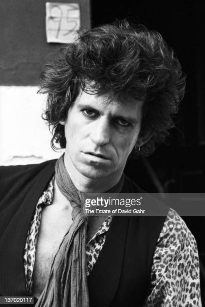 Keith Richards of The Rolling Stones poses for a portrait during the filming of the video for 'Waiting on a Friend' in the East Village on July 2...