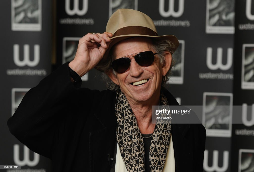 Keith Richards signs copies of his autobiography 'Life' at Waterstone's Booksellers Piccadilly on November 3, 2010 in London, England.