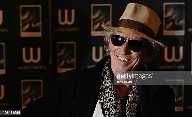 Keith Richards signs copies of his autobiography 'Life' at Waterstone's Booksellers Piccadilly on November 3 2010 in London England