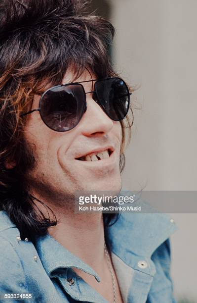 Keith Richards The Rolling Stones getting interviewed in Kingston Jamaica Kingston December 1972