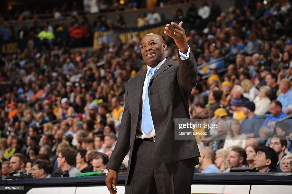 <a gi-track='captionPersonalityLinkClicked' href=/galleries/search?phrase=Keith+Smart&family=editorial&specificpeople=182522 ng-click='$event.stopPropagation()'>Keith Smart</a> of the Sacramento Kings calls plays from the bench during the game against the Denver Nuggets on March 23, 2012 at the Pepsi Center in Denver, Colorado.