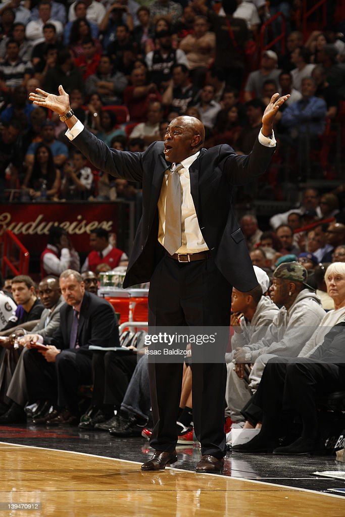 <a gi-track='captionPersonalityLinkClicked' href=/galleries/search?phrase=Keith+Smart&family=editorial&specificpeople=182522 ng-click='$event.stopPropagation()'>Keith Smart</a> of the Sacramento Kings reacts to the game action during the game against the Miami Heat on February 21, 2012 at American Airlines Arena in Miami, Florida.