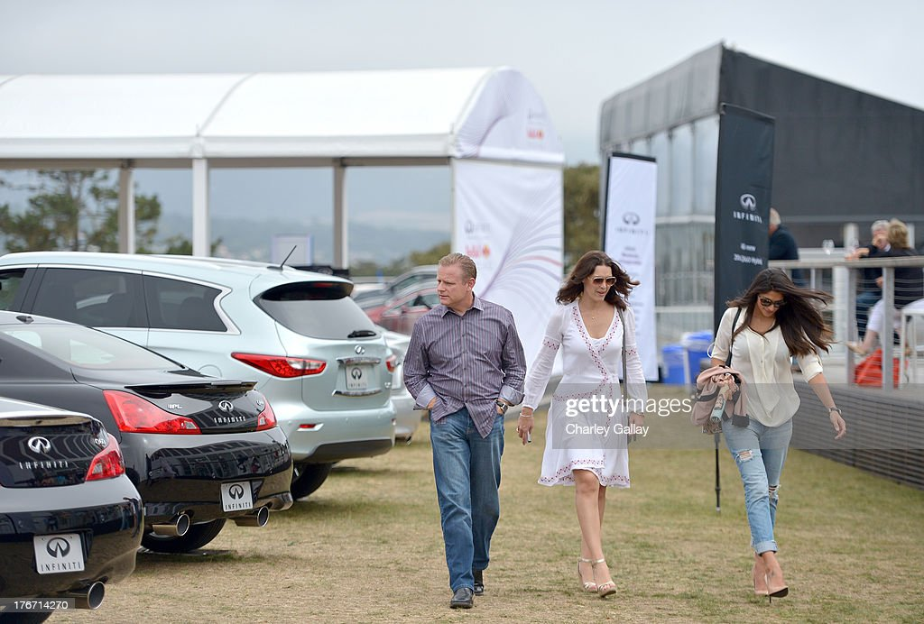 Keith St. Clair, Director, Infiniti USA Marketing Communications and Media, Infiniti, brand ambassadors Pia Miller and Louise Griffiths attend day 3 of Moments of Inspiration presented by Infiniti in partnership with Hearst Magazines on August 17, 2013 in Pebble Beach, California.