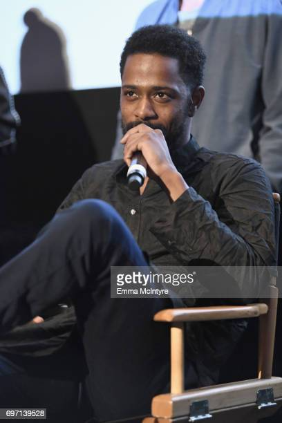 Keith Stanfield speaks at the 'Izzy Gets The Fuck Across Town' and 'Ok Call Me Back' Premieres during the 2017 Los Angeles Film Festival at Arclight...