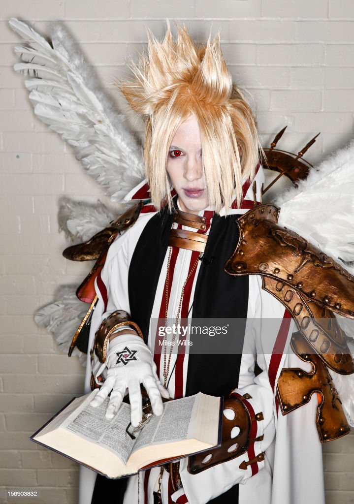 Keith Thompson as character 'Cain Nightroad' from Trinity Blood attends Hyper Japan at Earl's Court on November 24, 2012 in London, England. Hyper Japan is the UK's biggest Japanese culture event with many of the visitors dressing as cosplay, anime and manga characters.