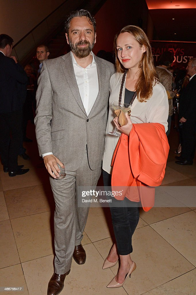 Keith Tyson and Viola Fort attend a private view of Bailey's Stardust a exhibition of images by David Bailey supported by Hugo Boss at the National...