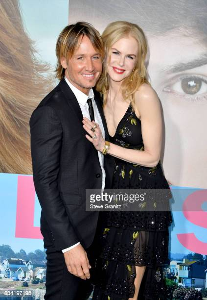Keith Urban and actress Nicole Kidman attend the premiere of HBO's 'Big Little Lies' at TCL Chinese Theatre on February 7 2017 in Hollywood California