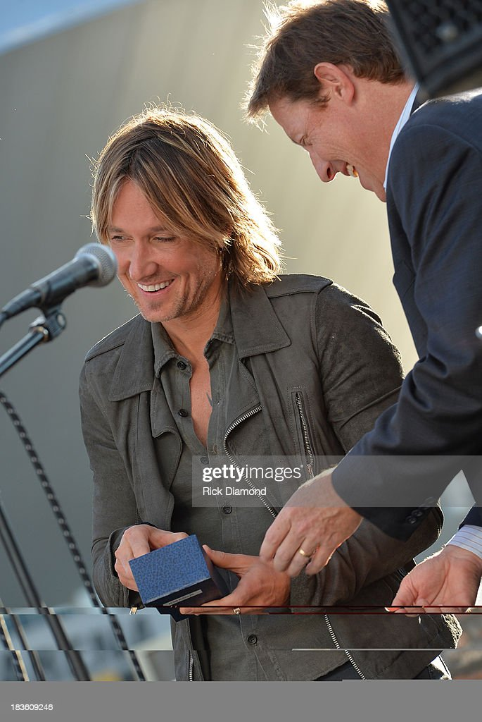 Keith Urban and BMI's Clay Bradley attend as Keith Urban, BMI & ASCAP Celebrate the No. 1 Song 'Little Bit Of Everything' at Aerial In Nashville on October 7, 2013 in Nashville, United States.