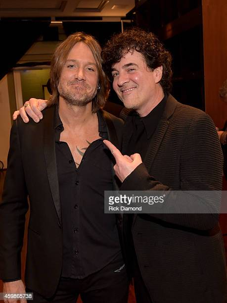 Keith Urban and CEO Big Machine Records Scott Borchetta at the 2014 CMT Artists Of The Year at the Schermerhorn Symphony Center on December 2 2014 in...