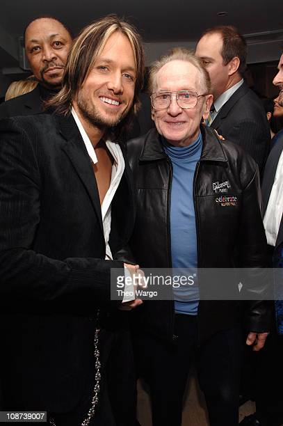 Keith Urban and Les Paul during The 39th Annual CMA Awards Capital Records Post Party Red Carpet and Inside at Nikki Beach in New York City New York...