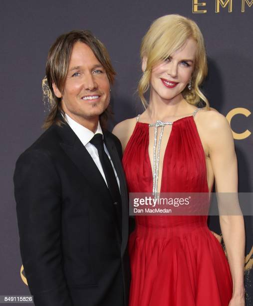 Keith Urban and Nicole Kidman arrive at the 69th Annual Primetime Emmy Awards at Microsoft Theater on September 17 2017 in Los Angeles California