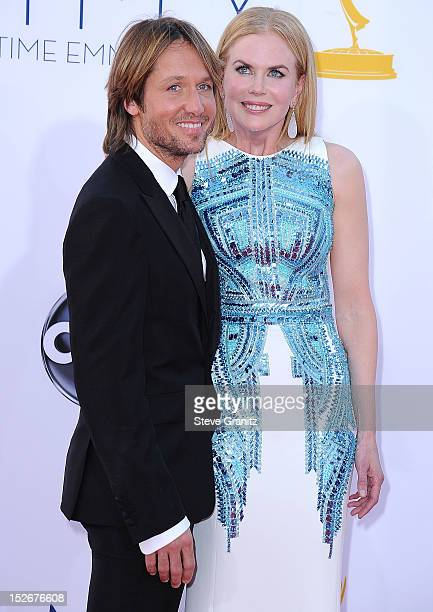Keith Urban and Nicole Kidman arrives at the 64th Primetime Emmy Awards at Nokia Theatre LA Live on September 23 2012 in Los Angeles California