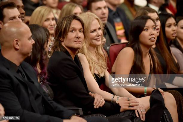 Keith Urban and Nicole Kidman at the 2017 American Music Awards at Microsoft Theater on November 19 2017 in Los Angeles California