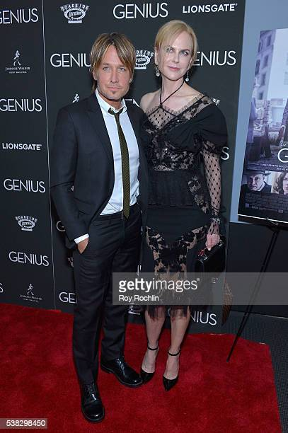 Keith Urban and Nicole Kidman attend 'Genius' New York premiere at Museum of Modern Art on June 5 2016 in New York City