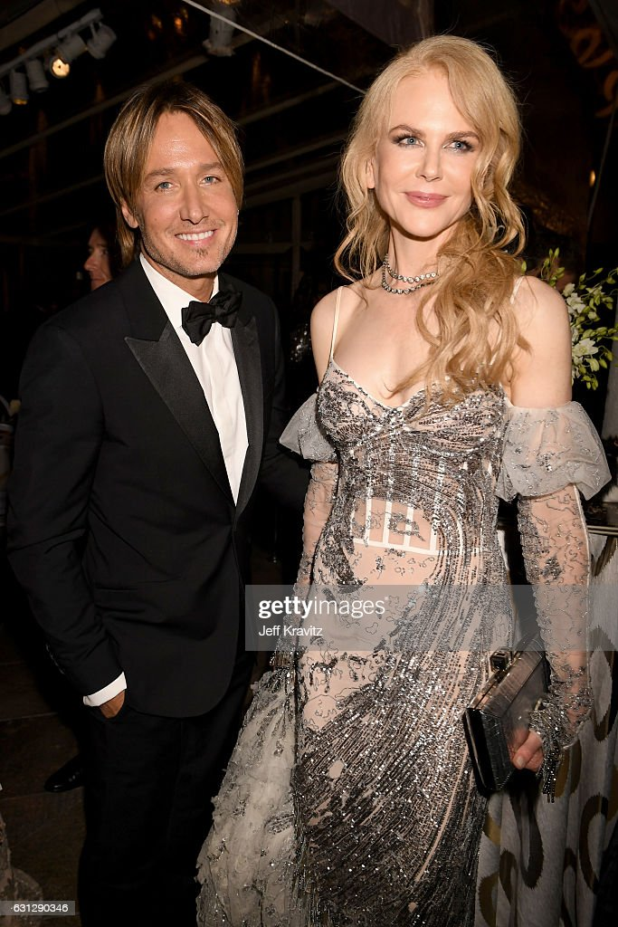 Keith Urban (L) and Nicole Kidman attend HBO's Official Golden Globe Awards After Party at Circa 55 Restaurant on January 8, 2017 in Beverly Hills, California.