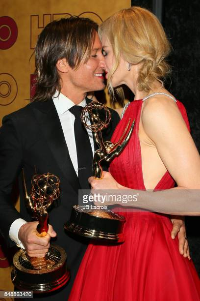 Keith Urban and Nicole Kidman attend HBO's Post Emmy Awards Reception at The Plaza at the Pacific Design Center on September 17 2017 in Los Angeles...