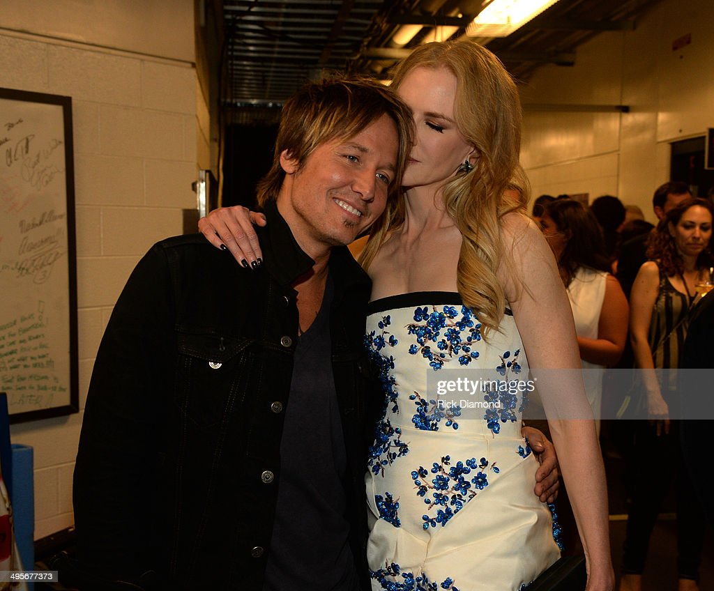 Keith Urban and Nicole Kidman attend the 2014 CMT Music Awards at Bridgestone Arena on June 4, 2014 in Nashville, Tennessee.