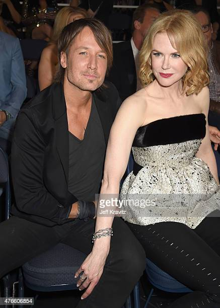 Keith Urban and Nicole Kidman attend the 2015 CMT Music awards at the Bridgestone Arena on June 10 2015 in Nashville Tennessee