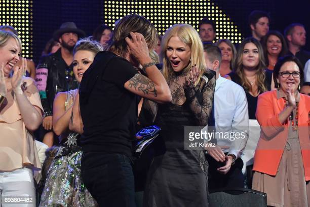 Keith Urban and Nicole Kidman attend the 2017 CMT Music Awards at the Music City Center on June 7 2017 in Nashville Tennessee