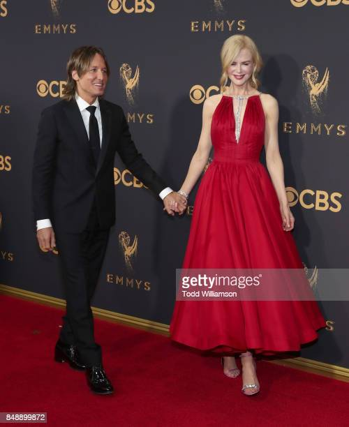 Keith Urban and Nicole Kidman attend the 69th Annual Primetime Emmy Awards at Microsoft Theater on September 17 2017 in Los Angeles California