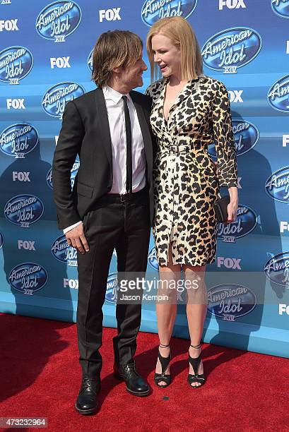 Keith Urban and Nicole Kidman attend the 'American Idol' XIV Grand Finale event at the Dolby Theatre on May 13 2015 in Hollywood California