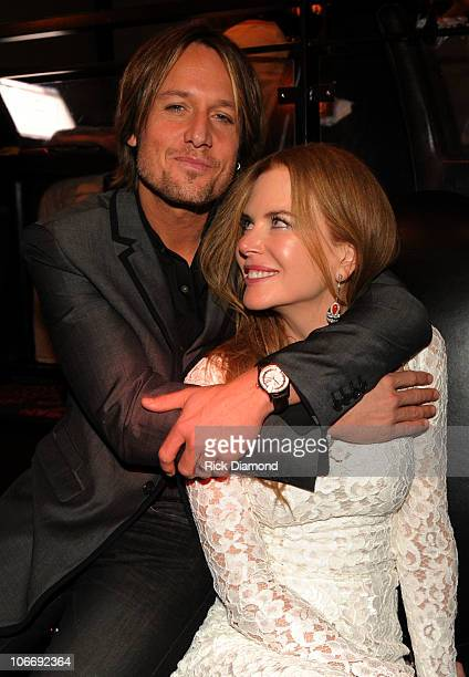 Keith Urban and Nicole Kidman attend the Capitol Records Party following the 44th Annual CMA Awards at Sambuca on November 10 2010 in Nashville...