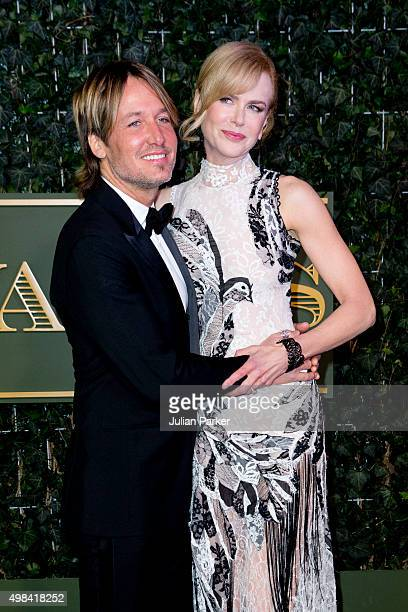 Keith Urban and Nicole Kidman attend the Evening Standard Theatre Awards at The Old Vic Theatre on November 22 2015 in London England