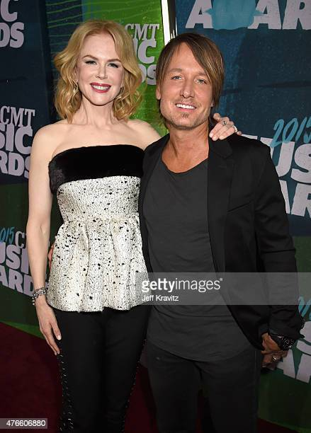 Keith Urban and Nicole Kidman attends the 2015 CMT Music awards at the Bridgestone Arena on June 10 2015 in Nashville Tennessee