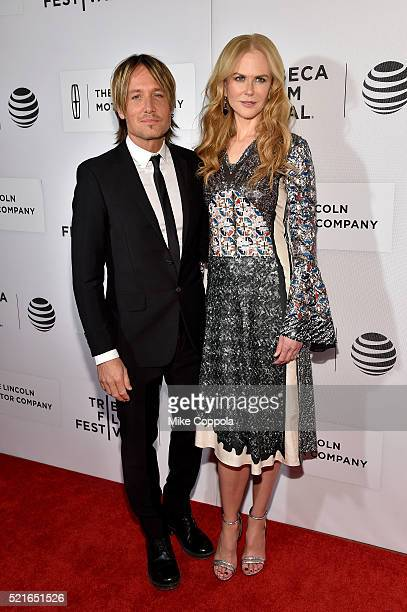 Keith Urban and Nicole Kidman attends the 'The Family Fang' Premiere 2016 Tribeca Film Festival at BMCC John Zuccotti Theater on April 16 2016 in New...