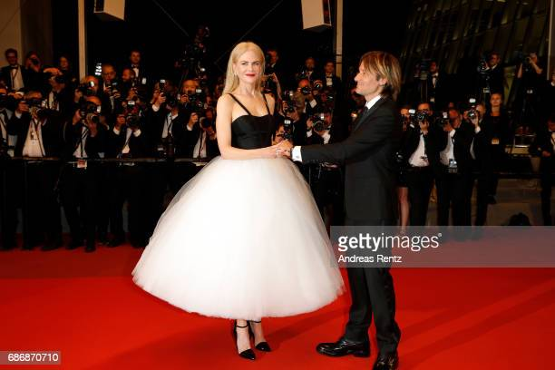 Keith Urban and Nicole Kidman depart after the 'The Killing Of A Sacred Deer' screening during the 70th annual Cannes Film Festival at Palais des...