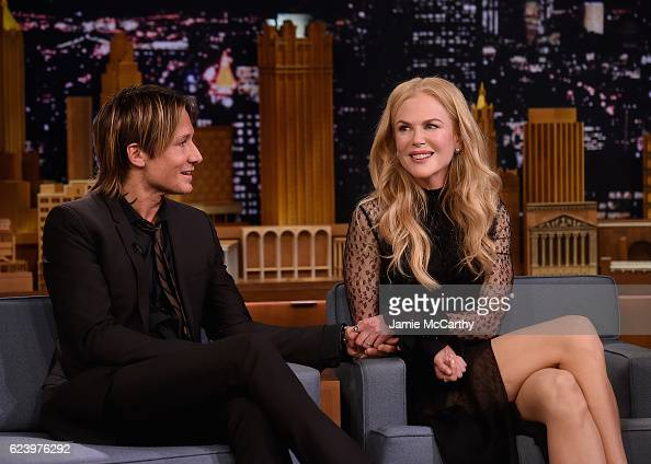 Keith Urban and Nicole Kidman during a segment on 'The Tonight Show Starring Jimmy Fallon' at Rockefeller Center on November 16 2016 in New York City