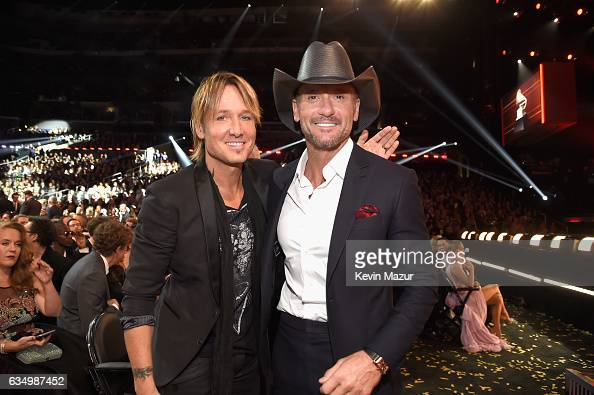 Keith Urban and Tim McGraw during The 59th GRAMMY Awards at STAPLES Center on February 12 2017 in Los Angeles California