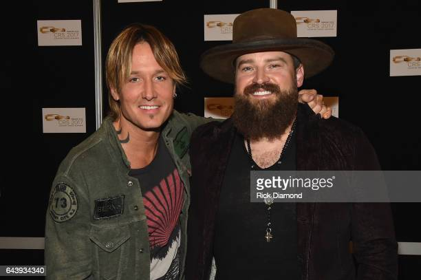 Keith Urban and Zac Brown backstage during CRS 2017 Day 1 on February 22 2017 in Nashville Tennessee