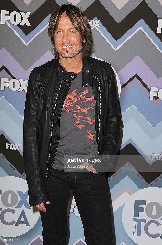 <a gi-track='captionPersonalityLinkClicked' href=/galleries/search?phrase=Keith+Urban&family=editorial&specificpeople=202997 ng-click='$event.stopPropagation()'>Keith Urban</a> arrives at the 2013 TCA Winter Press Tour - FOX All-Star Party at The Langham Huntington Hotel and Spa on January 8, 2013 in Pasadena, California.